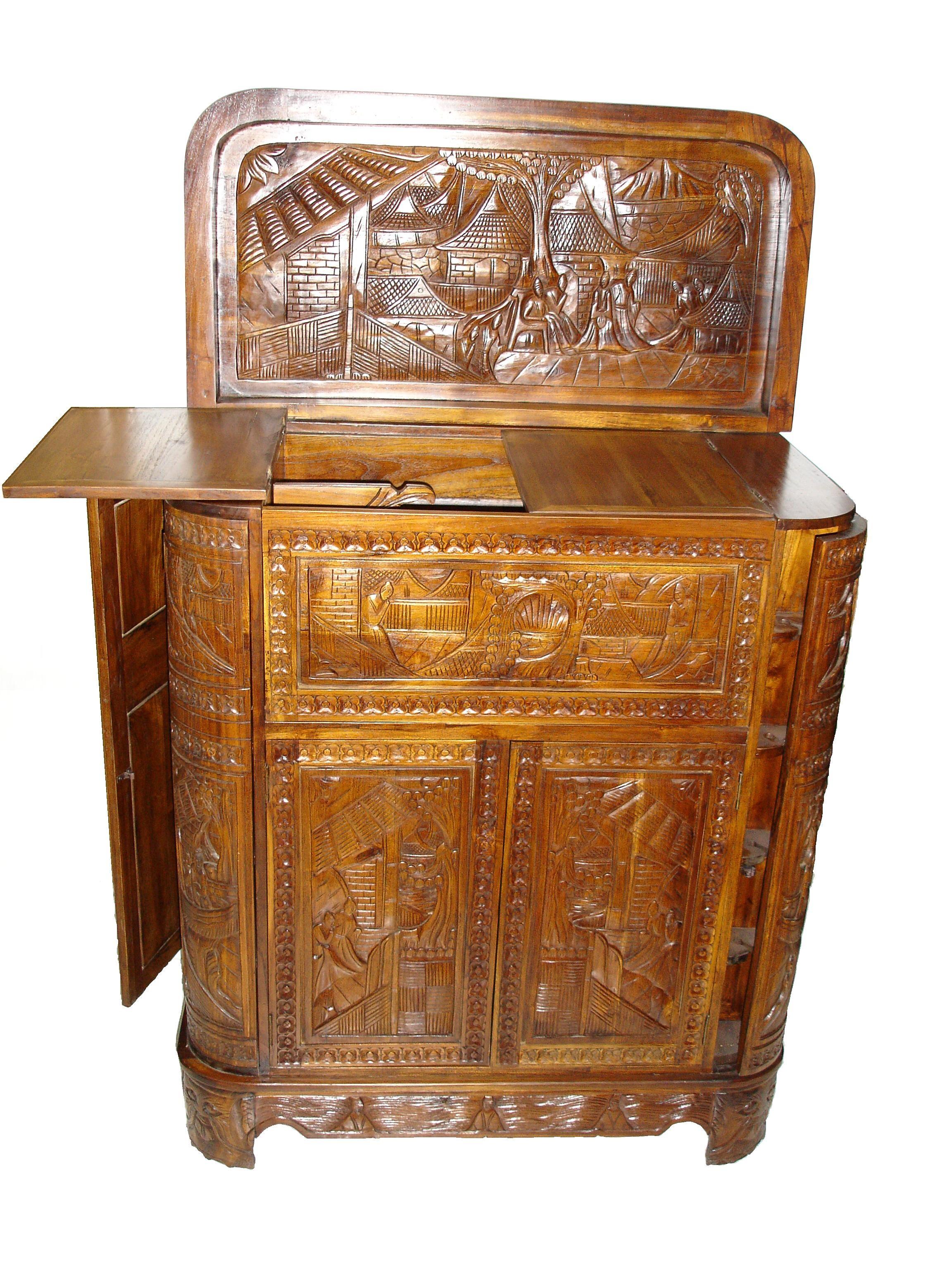 Muebles De Madera Teca Fabulous Cocina Madera Teca Mueble Bar De  # Muebles Teca Interior